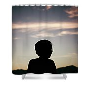 In The Shadow Of Sunrise. Shower Curtain