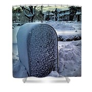 In The Snow Shower Curtain