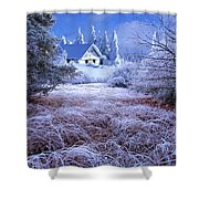 In The Snowy Forest Shower Curtain