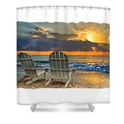 In The Spotlight Bordered Shower Curtain