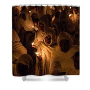 In The Streets Of Aksum Shower Curtain