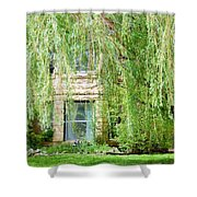 In The Weeping Willows Shower Curtain