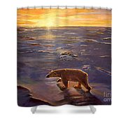 In The Wilderness Shower Curtain by Kevin Parrish