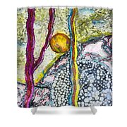 In The Woods And Swamps Shower Curtain