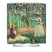 In The Woods At Giverny Shower Curtain