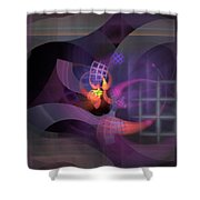In The Year Of The Tiger - Fractal Art Shower Curtain