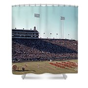 In This Vintage 1955 Photo The University Of Texas Longhorn Band Shower Curtain