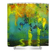 In To Abstract Shower Curtain