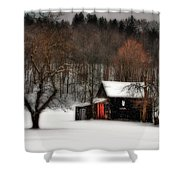 In Winter Shower Curtain
