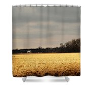 In Yonder Timber Shower Curtain