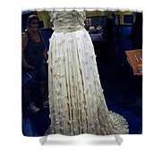 Inaugural Gown On Display Shower Curtain