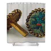 Inca Earrings Shower Curtain