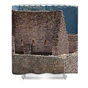 Inca Structure Shower Curtain