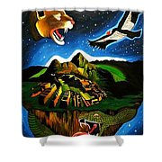 Inca's Trilogy II Shower Curtain