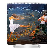 Incendiary Shower Curtain