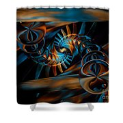 Inception Abstract Shower Curtain