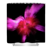 Incoming Attack Orchid Shower Curtain