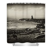 Incoming Fog On The Coquille Shower Curtain