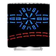 Incoming Outgoing Shower Curtain