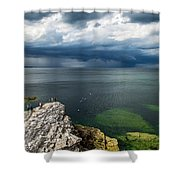 Incoming Rain Shower Curtain