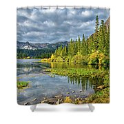 Incoming Storm At Twin Lakes Shower Curtain