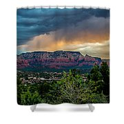 Incoming Storm Over Sedona Shower Curtain