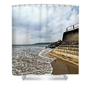 Incoming Tide - Charmouth Shower Curtain