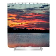 Incredible Red Sky  Shower Curtain