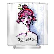 Incredulous Jane Shower Curtain