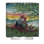 Independance Day Pignic Shower Curtain