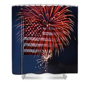 Independence Day Shower Curtain by Skip Willits