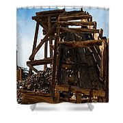Independence Gold Mine Ruins Shower Curtain