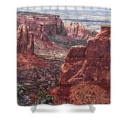 Independence Monument At Colorado National Monument Shower Curtain