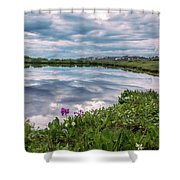 Independence  Pass Pond Shower Curtain