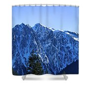 Index Mountain Shower Curtain