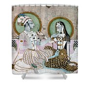 India: Couple Shower Curtain
