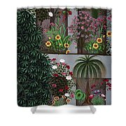 India: Garden Shower Curtain