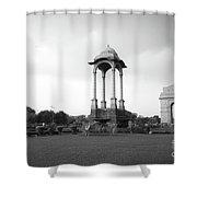 India Gate - Monochrome Shower Curtain