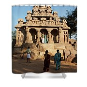 India Mahabalipuram  Shower Curtain