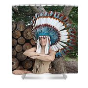 Indian 018 Shower Curtain