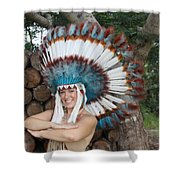 Indian 021 Shower Curtain