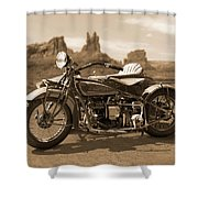 Indian 4 Sidecar Shower Curtain