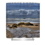 Indian Beach Shower Curtain