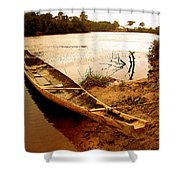 Indian Boat Shower Curtain
