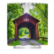 Indian Camp Covered Bridge Shower Curtain