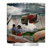 Indian Camp - Roberval P Q Shower Curtain