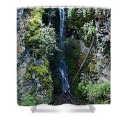 Indian Canyon Waterfall Shower Curtain