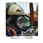 Indian Chief Vintage L Shower Curtain
