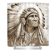 Indian Chief With Headdress Shower Curtain