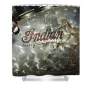 Indian Chopper Gas Tank Shower Curtain